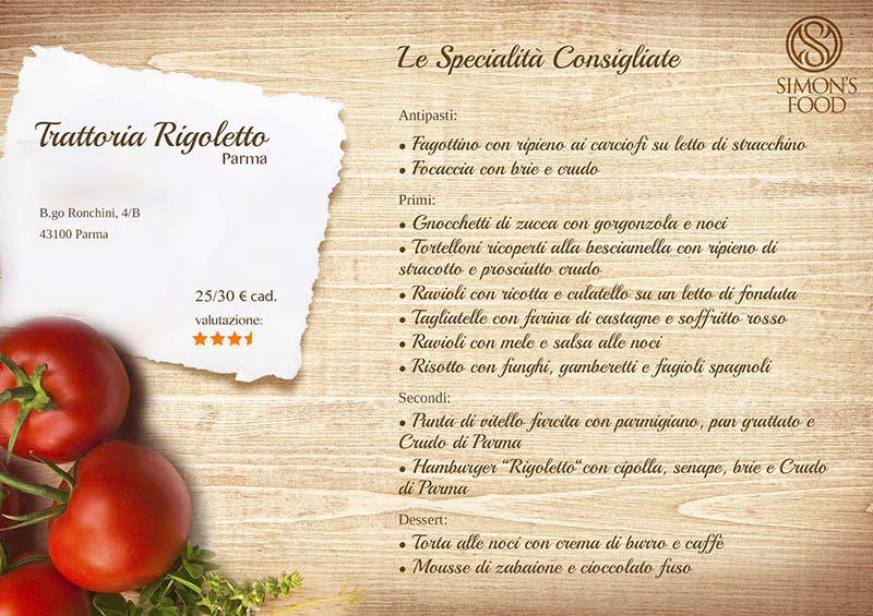 Trattoria Rigoletto - menù