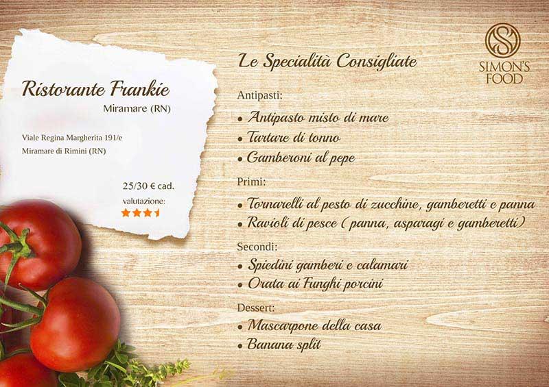 Ristorante Frankie - menù
