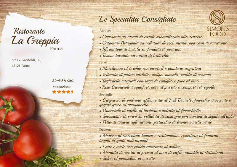 Ristorante La Greppia - menù