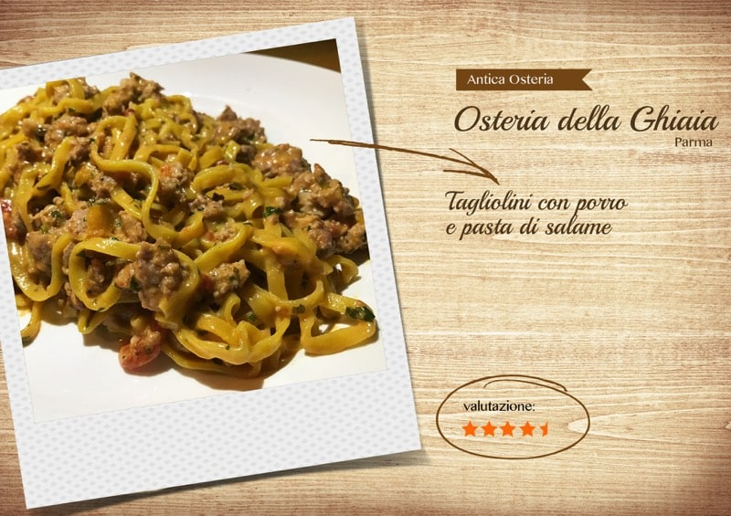 Osteria della ghiaia simon italian food for Amante italian cuisine