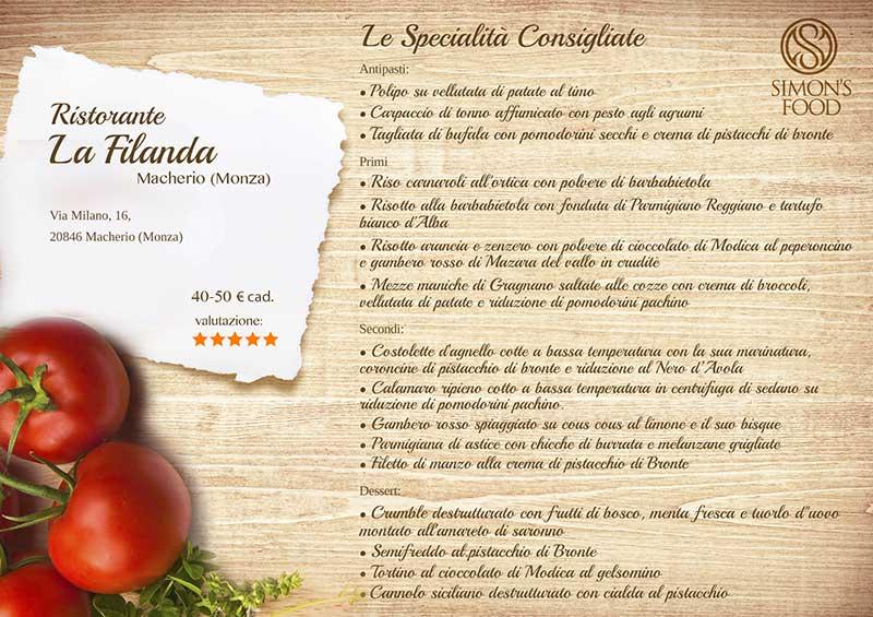 Ristorante La Filanda - menù