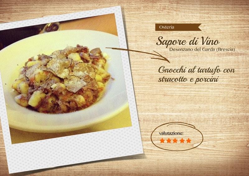 Osteria Sapore Divino, Gnocchi al tartufo