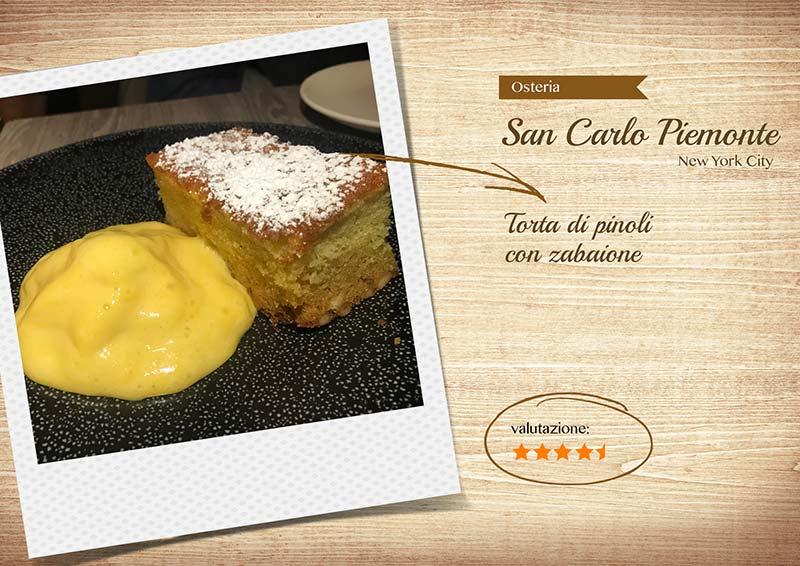 Ristorante Osteria San Carlo -torta-sito