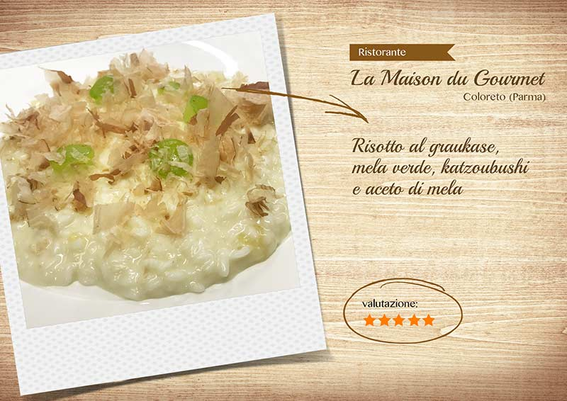 Maison du gourmet - risotto graukase-sito