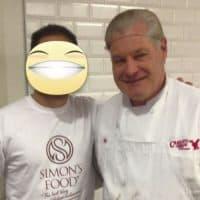 Simon con Mauro Belgiovine suocero di Buddy Valastro (il Boss delle Torte) in visita alla pasticceria Carlo's Bakery