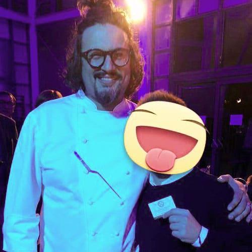 Simon con lo chef Alessandro Borghese
