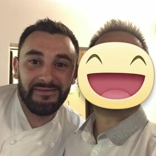 Lo chef Simone Breda del Ristorante Sedicesimo Secolo