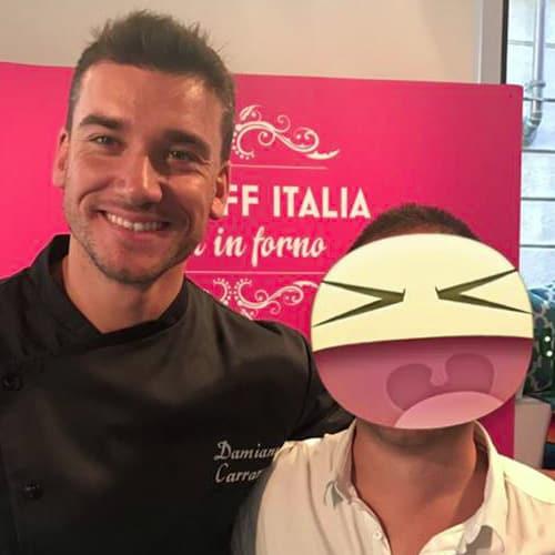 Il pasticcere e giudice del reality Bakeoff 2017 Damiano Carrara
