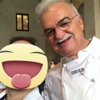 Simon con il pasticcere Gino Fabbri