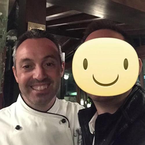 Lo chef del Giorgio Graziano del ristorante Ficondindia