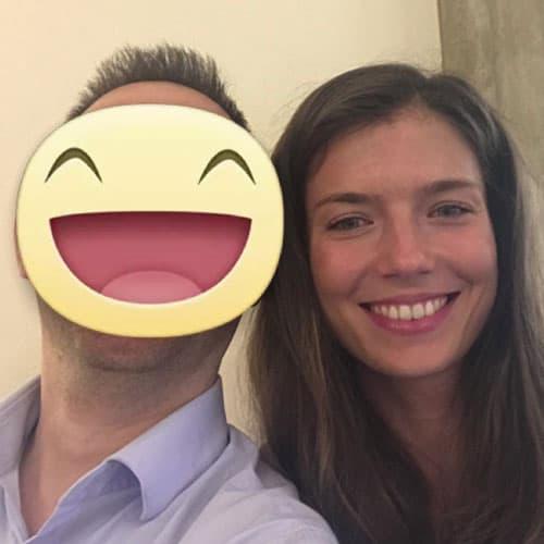 Simon con Laura Cattani - Pasticcera dello chef Massimo Bottura