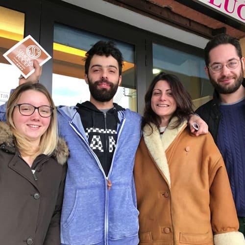 Gli amici della pizzeria da Luca e Filo a Parma