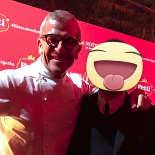 Simon con lo chef del Gambero Rosso Max Mariola