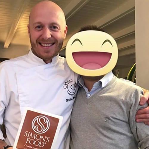 Lo chef Michele Mauri del ristorante La piazzetta a Milano Marittima