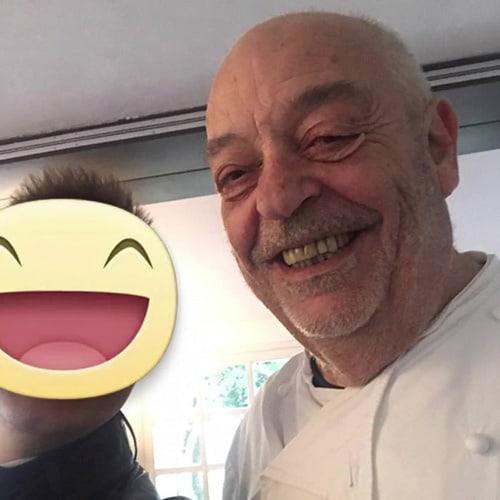 Con il maestro Mauro Ricciardi Chef della Locanda Dell'Angelo