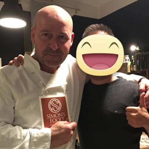 Lo chef max rossi del ristorante Le Scalette