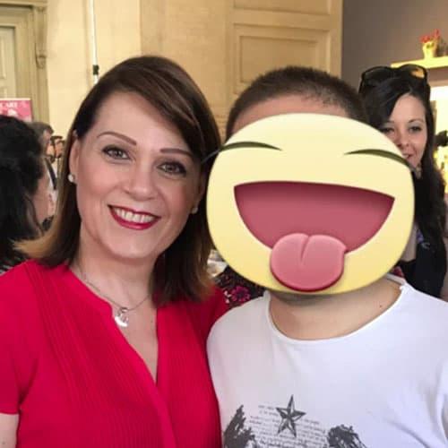 Simon con Sonia Peronaci, Blogger e creatrice di GialloZafferano
