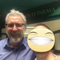 Simon con lo chef Maurizio Pistritto