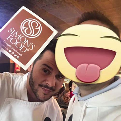 Simon con lo chef pizzaiolo Pier Daniele Seu