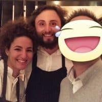 Con i due amici e concorrenti del reality Top Chef Italia 2017 La Pastry Chef Majda Nabaouie e lo Chef Luca Natalini