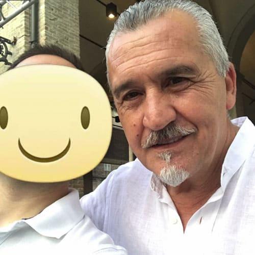 Simon con il pasticcere internazionale Paco Torreblanca