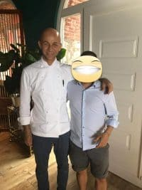 Simon con lo Chef Riccardo Camanini