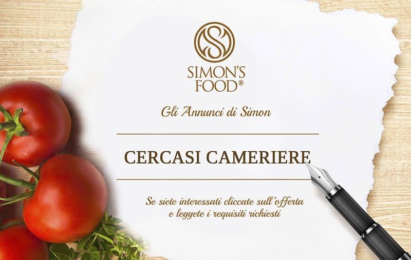Annuncio di lavoro - Cameriere - Simon Italian Food