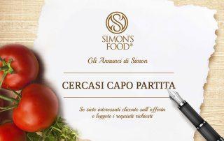 Annuncio di lavoro - Capo Partita - Simon Italian Food