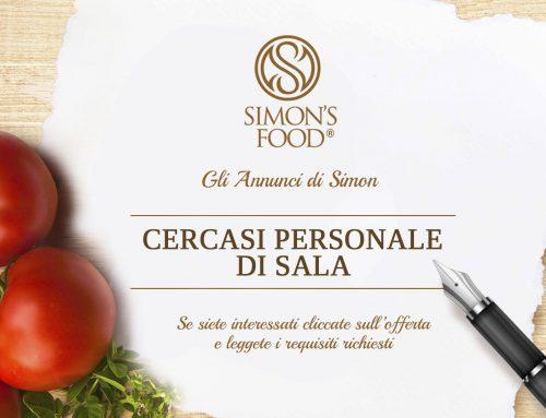 Cercasi Personale di Sala per turno serale Ristorante a Collecchio (Parma)