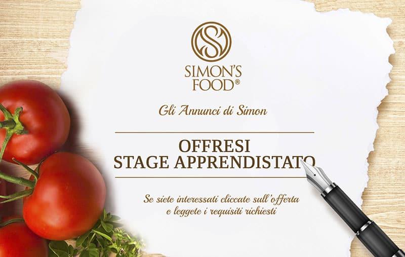 Annuncio di lavoro - Stage - Simon Italian Food