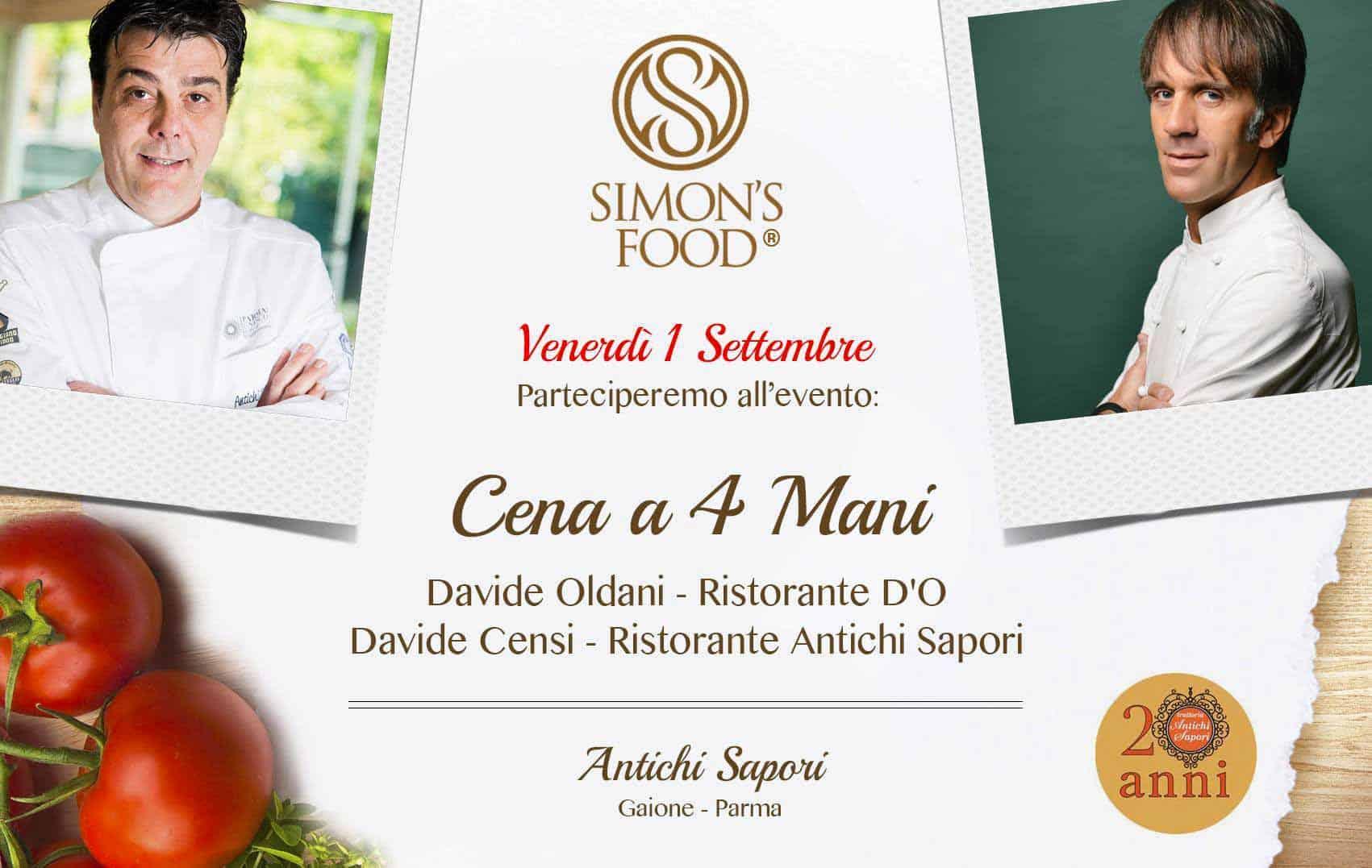 Cena a 4 mani, Antichi Sapori, Parma