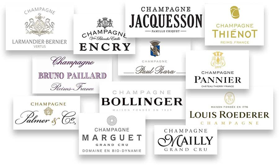 Champagne Experience 2017, etichette
