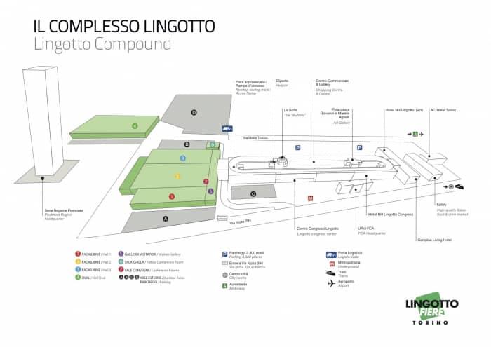 piantina complesso Lingotto Torino