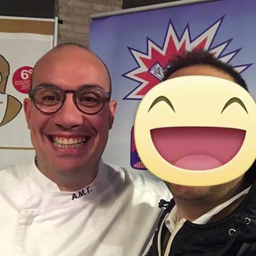 Con lo chef Angelo Mattia Tramontano