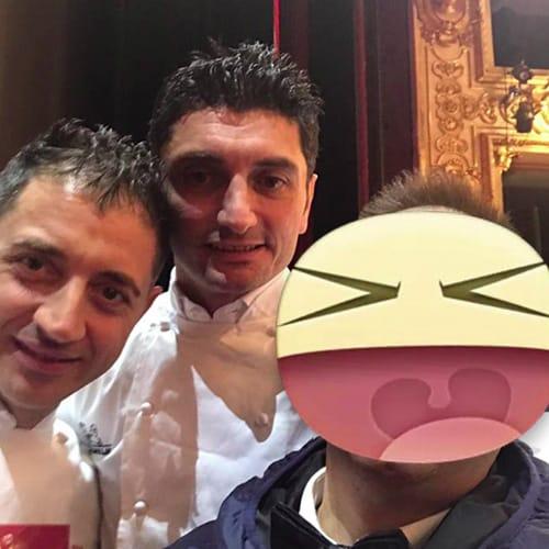 Lo chef Andrea Aprea - Vun - 2 Stelle Michelin, e Fabio Ciervo 1 stella michelin