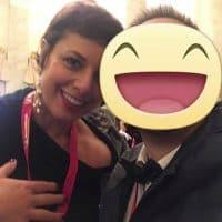 Con la conduttrice di Alice TV Francesca Barberini