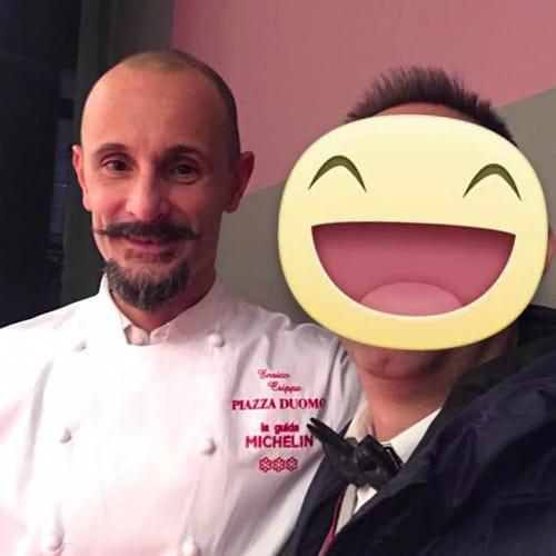 La chef Enrico Crippa - Piazza Duomo - 3 Stelle Michelin