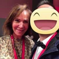 Con Fiammetta Fadda, giornalista enogastronomica e personaggio televisivo