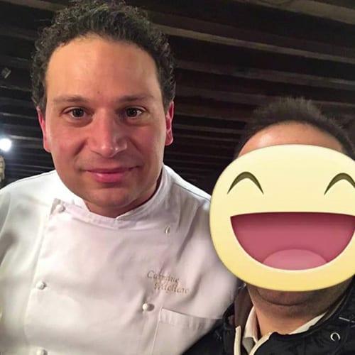 Con Lo chef Carmine Migliaro