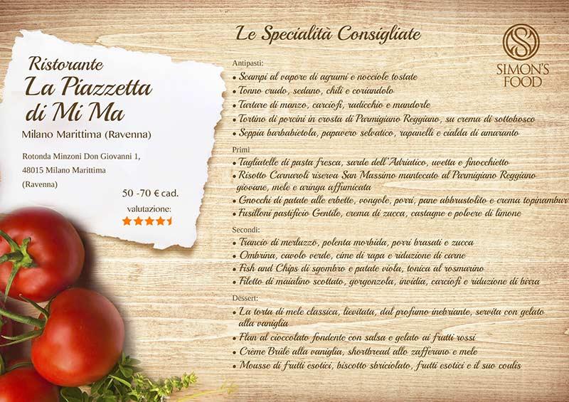 Ristorante La Piazzetta - Piazzetta menu-sito
