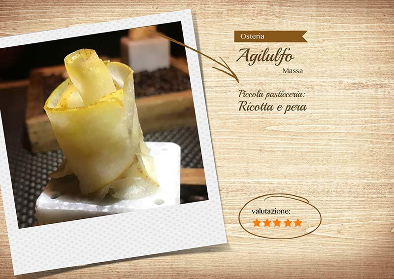 Osteria Agilulfo - ricotta e pera