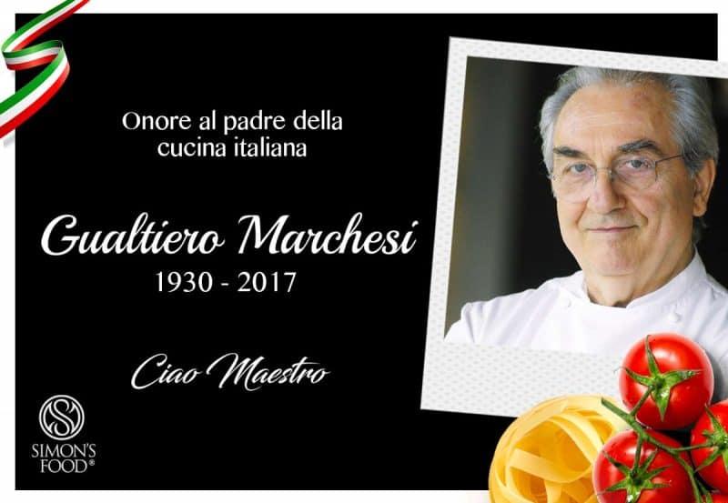 Morto Gualtiero Marchesi