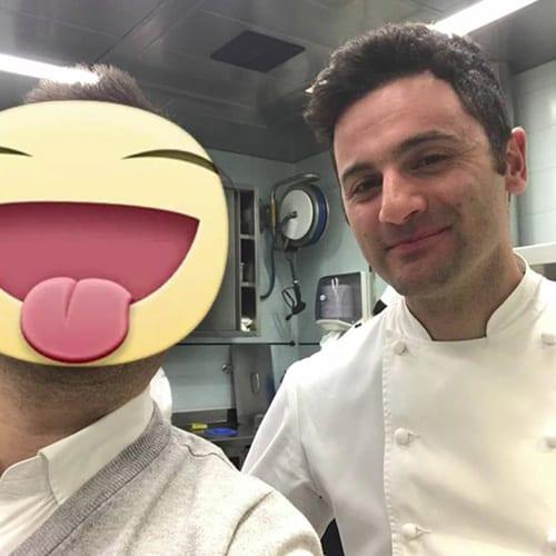 Con il PastryChef Luca La calamita dell'Enoteca Pinchiorri (3 Stelle Michelin)