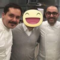 con i due Chef Riccardo Monco e Alessandro della Tommasina dell'Enoteca Pinchiorri (3 Stelle Michelin)