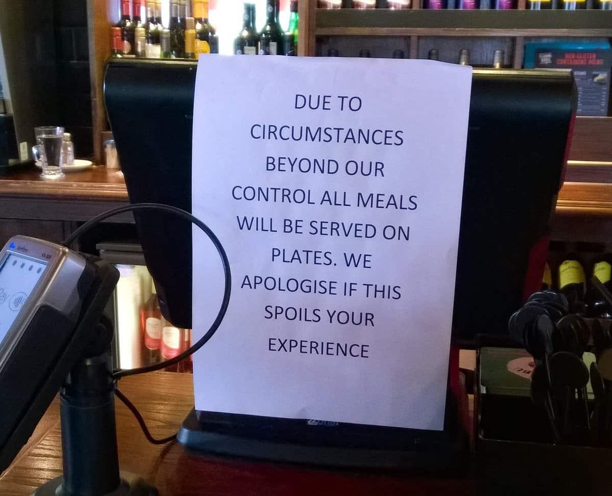 Le scuse del ristorante