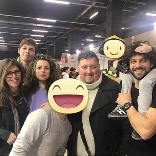 Con gli amici del reality bakeoff edizione 2017 (Rosalind Pratt, Benedetta Galeno, Luigi Paonessa, Christian Frontino, Paolo Patrizi)