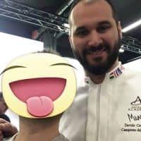 Con il pasticciere Davide Comaschi vincitore del World Chocolate Master 2013.