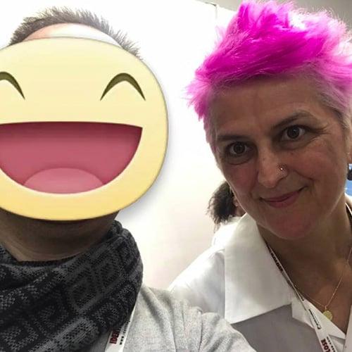 Con La chef stellata Cristina Bowerman del ristorante Glass