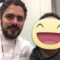 Con lo chef Matteo Baronetto del ristorante Al Cambio - 1 stella Michelin