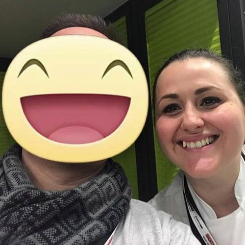 Con la giovane chef Caterina Ceraudo del ristorante Dattilo - 1 stella Michelin